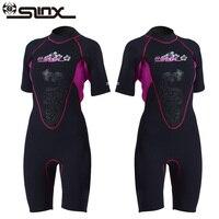 Slinx Women Short Sleeve Wetsuit 3mm Neoprene Full Body Wetsuit for Swim Surfing Snorkeling Spearfishing Sailing Water Ski
