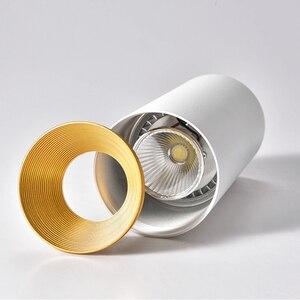 Image 4 - [DBF] נורדי COB צמודי Downlight 10W 12W 15W רקע קיר בגדי חנות Showcase חלון LED תקרת ספוט תאורה