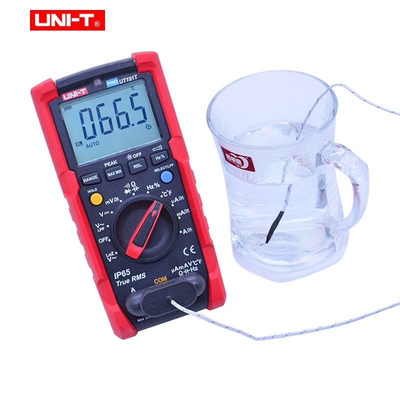 Multímetro Digital UNI T UT191E UT191T voltímetro de CA CC amperímetro ohmetro capacitancia frecuencia de ciclo de servicio diodo/prueba de continuidad - 4