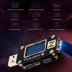 Image 2 - ATORCH POWER Z USB test cihazı tip c PD QC 3.0 2.0 şarj gerilim akım dalgalanma çift tip c KM001 volt metre güç banka dedektörü
