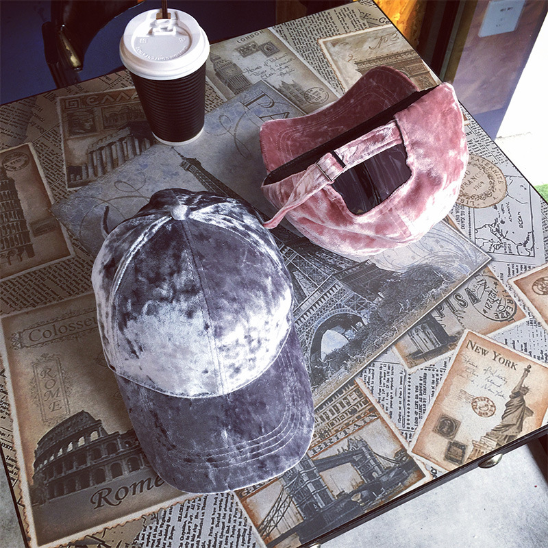10pcs lot 0179 pei3641 winter autumn velvet solid leisure cap men women baseball hat wholesale