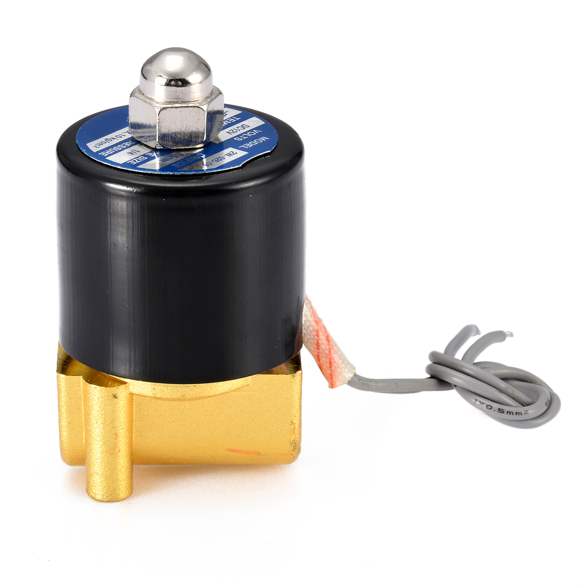 """2019 New DC 12V Electric Solenoid Valve 1/4"""" N/C Two-Way Valves Normally Closed For Water Air Gas High Quality"""
