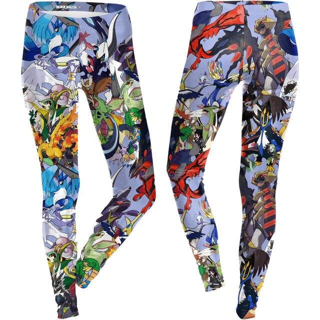 placeholder Pokemon Go Cartoon Print Women Yoga Pants High Waist Skinny  Leggings Fitness Gym Running Tights Pikachu ea676583b3ef