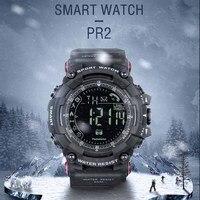 Spovan 2019 Yeni Spor akıllı saat Mens Üst Marka Dijital Kol Saati Siyah Saat Spor Sağlık Bilezik Su Geçirmez Hediye Adam