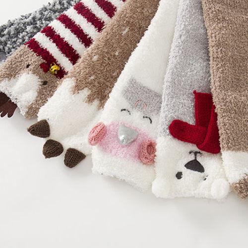 1-5Y Christmas Baby Boys Girls Socks Cartoon Deer Unicorn Infantil Knee High Bows Princess Socks Cute Baby Socks Long Tube Sock