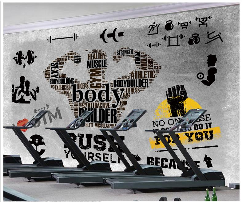 3d Wallpaper 3d Murals Wallpaper For Walls 3 D Gym Mural Custom Gym Fitness Club Setting Wall Is The Gym Wall Paper Decoration