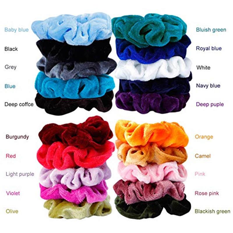 Girls Gum Ribbon Hair-Headwear Hair-Scrunchies Velvet Elastic Women For Lady