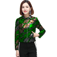 Full Sleeve Fashion Women Print African Jacket Tailored Dashiki Clothes Ladies Short Coat Customized Pattern Africa