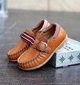 2016 детская Обувь из натуральной кожи Мокасины весной и осенью ребенок случайные тенденции кожа одиночные мальчики джентльмен обувь