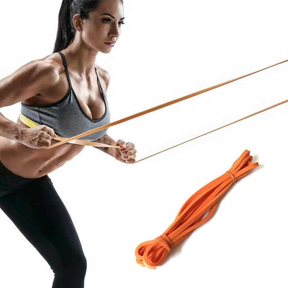 Resistance Bands Fitness Gum Workout Latex Yoga Gym Strength Training Band Athletic Fitness Equipment Bands expander Orange