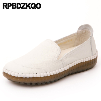 elderly wide fit shoes ladies flats white 10 women slip on 2018 china breathable hollow out large size loafers maternity chinese