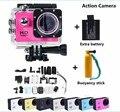 Hero 3 style sj4000 câmera 1080 p full hd dv câmera de ação esporte 30 m à prova d' água de 170 graus wide angle + bateria + flutuabilidade vara