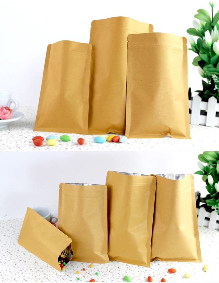 Commande personnalisée de 10000 pièces 8*11 cm à fermeture éclair en papier kraft sac en papier pour la grèce client