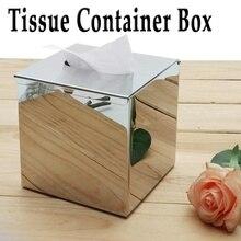 Бумажный стеллаж элегантный хромированный автомобильный домашний куб квадратной формы коробка для салфеток контейнер из нержавеющей стали коробка полотенце держатель для салфеток