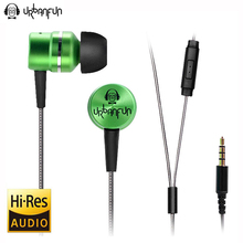 Original URBANFUN Earphone 3.5mm In Ear Earbuds Hybrid Drive Earphones With Microphone HIFI Auriculares With Monitor Earplug