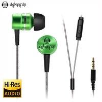 URBANFUN 3 5mm In Ear Earphone 1DD With 1BA Hybrid Drive HIFI Metal Hybrid Earphone For