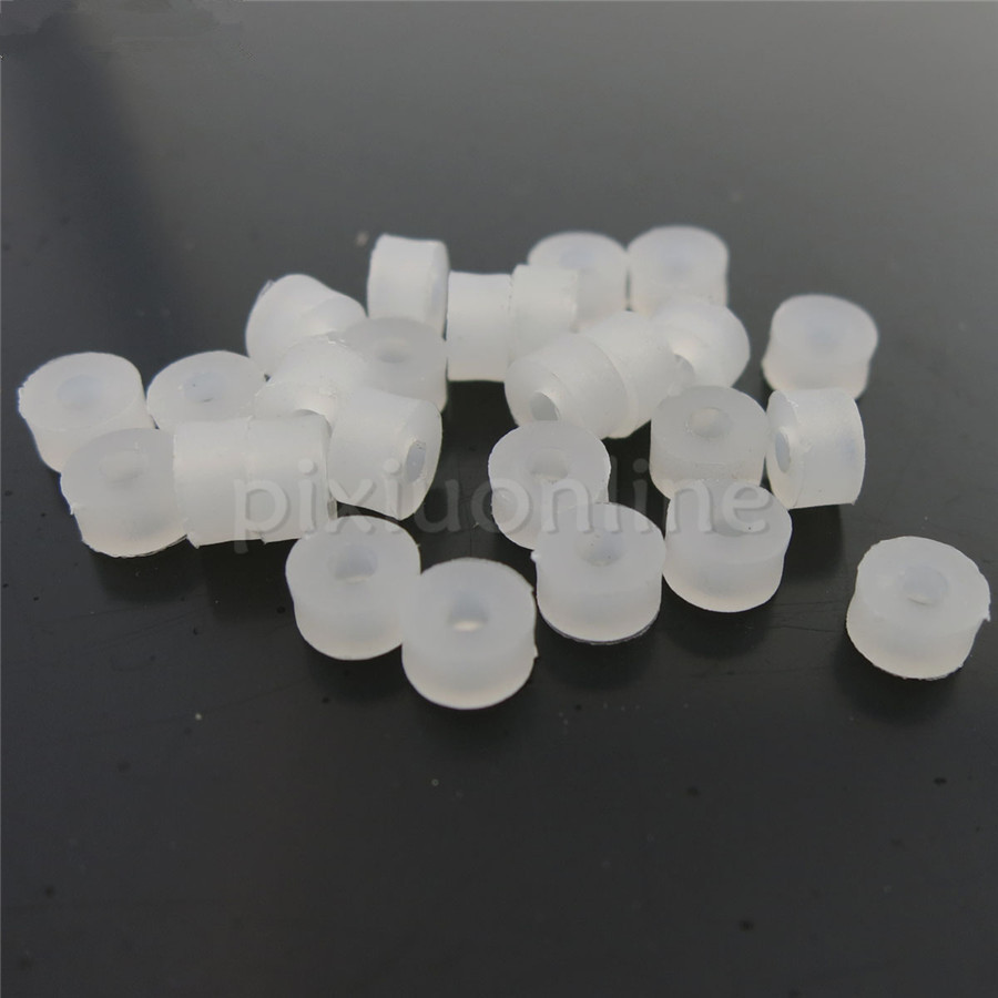 About 80pcs/pack J374 White Plastic Soft Shaft Sleeve Fit 2mm Axle Sleeve DIY Mo