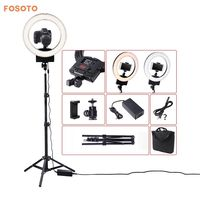 Fosoto 12 Photography Lighting Dimmable Bi Color 3200K 5600K 36W CRI 93 Camera Photo Studio Phone