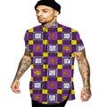 Da vuelta-abajo hombres ropa camisa dashiki africano áfrica impresión de manga corta tops moda ropa para hombres personalizado