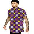 Turn-down collar men african shirt dashiki clothes africa print short sleeve tops fashion mens clothing custom