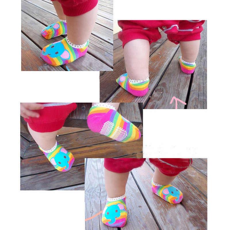 Calcetines baratos para bebés recién nacidos con encaje 1 par de calcetines divertidos para bebés sokwes calcetines de algodón para niños pequeños calcetines cortos bebé patrón aleatorio enviar