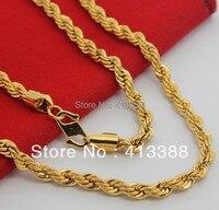 NEC1545 New Arrivals Cao Thời Trang Mạ 24 K Vàng Màu Jewelry 6 mét Twisted Singapore Chuỗi Dây Vàng Vòng Cổ Người Đàn Ông Hot Items