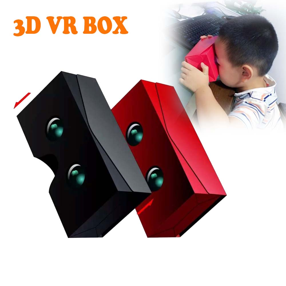 3D VR Glasses Automatic Folding Case Boxes SKY Mobile Phone Google Cardboard Virtual Reality For 4.0-6.0 inch Smartphone