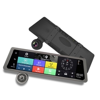 New 10 IPS Touch Screen Dual Lens Car DVR Camera Mirror Android 4G GPS Rearview Mirror Video Recorder Full HD 5.1 iOS