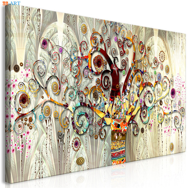 96b75d8335a8 Vintage Poster Tree of Life Print Abstract Canvas Painting Gold Wall Art  Pictures for Living Room Tribe Wall Decor