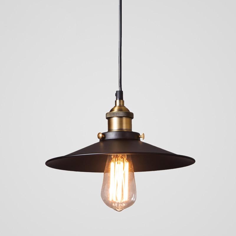 Vintage Retro Industrial Pendant Lamp Light E27 Holder Iron lampshade hanging lamp for Restaurant Bar Counter Attic Bookstore title=