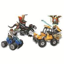 440Pcs Jurassic Dinosaurs World Park 2 Catching Dinosaur Truck Car Set Building Block Kid Toy Gift Compatible Legoing
