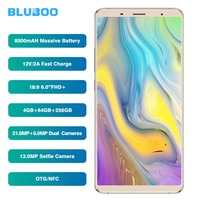 BLUBOO S3 18:9 FHD + смартфон 6,0 ''mtk6750t восемь ядер 4 ГБ Оперативная память 64 ГБ Встроенная память мобильного телефона 8500 мАч 21MP + 5MP двойной камеры задн