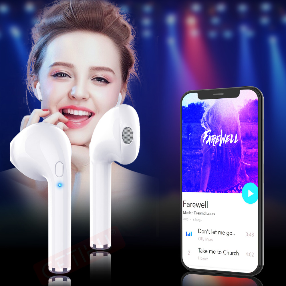 Mini Twins Bluetooth Earphone Stereo headphones Wireless Earphones Sport in Ear Headset For Apple iPhone X 6s Air Pods Earbuds