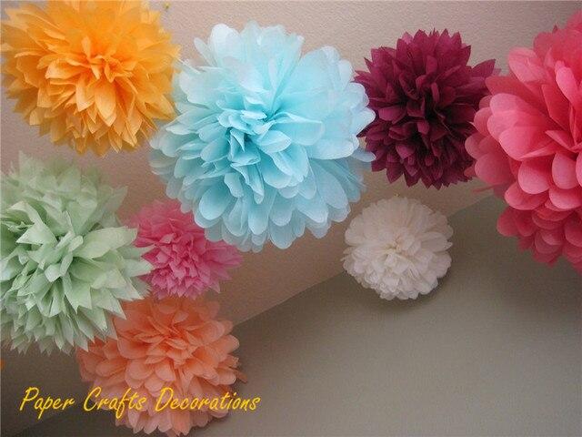 blumen aus pompons, gemischt größen 6/8/10/12/14 zoll dekorative seidenpapier pompons, Design ideen