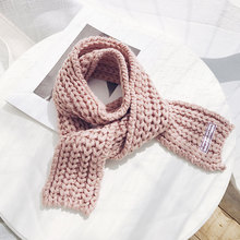 Kitted Winter Scarf for Women Scarves For Girls Warmer 2019 Fashion  Ladies Keep Warm Small Size