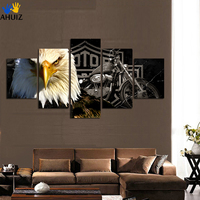 2017 New HD Selling Owl Motorcycle Fashion Print Canvas Painting For Office Living Room Home Decoration
