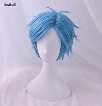 YUI TAMURA Blue Wig Cosplay Adult Halloween Synthetic Hair Anime Yarichin Bitch Bu Club Role Playing Hair