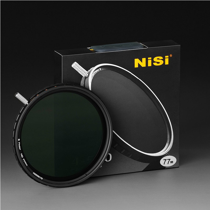 NISI ND4-500 Variable ND Lens filter 67mm 72mm 77mm Ultra Thin Adjustable neutral density filter for canon nikon sony camera nisi 77mm pro uv ultra violet professional lens filter protector for nikon canon sony olympus camera