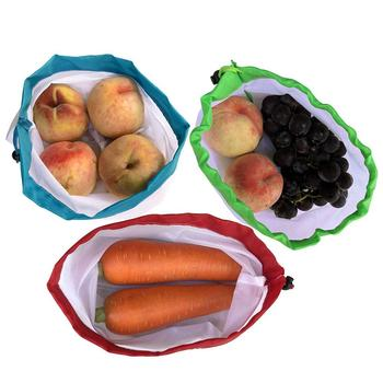Pokich 12pcs Reusing Eco-friendly Reusable Grocery Produce Bags Stop Wasting Plastic Mesh Bags For Storage Fruit Vegetable 5