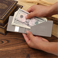 New Fashion Faux Leather Wallet Men Fluorescence Orange Money Clip Slim Holder Portefeuille Femme for Card Cash Money Business