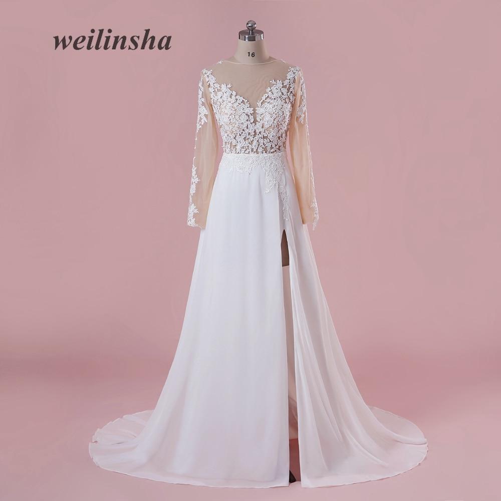 La mejor compra Weilinsha nuevo estilo ilusión gasa vestidos de ...