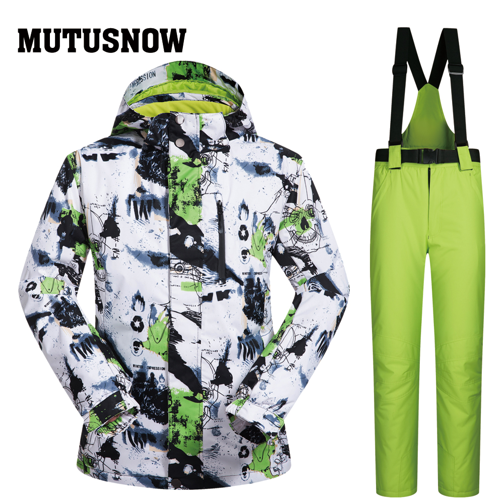 Ski Suit Men Brands New SMHMTZ Outdoor Windproof Waterproof Thermal Male Snow Jacket And Pants Snowboard Men Ski Winter Jackets 2018 new lover men and women windproof waterproof thermal male snow pants sets skiing and snowboarding ski suit men jackets