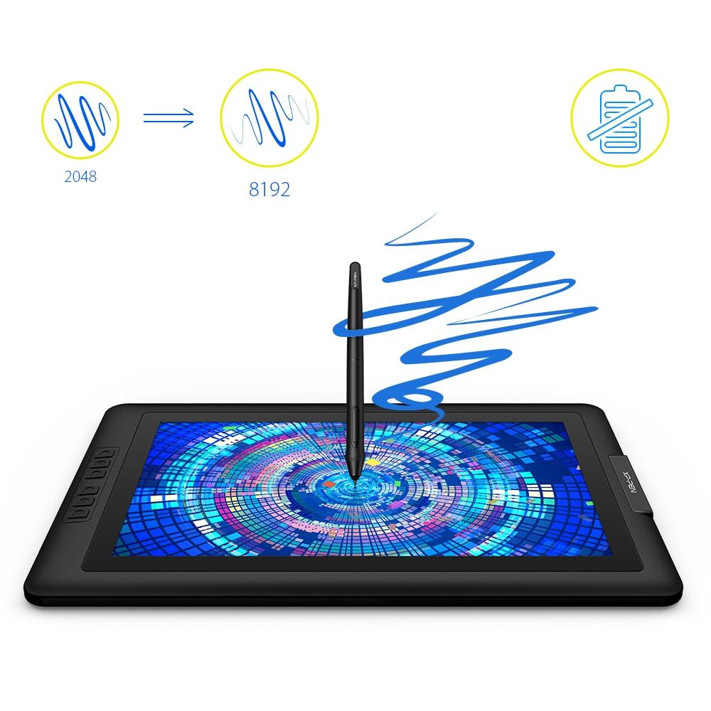 XP-PEN Tablette Graphique Moniteur Artist15.6 avec 8192 Stylet Passif sans Batterie - 3