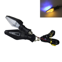 2 Pcs/12 1 muito Motocicleta LEVOU Transformar a Luz do Sinal de Alta qualidade Led Indicador de Cor Dupla Luz Azul & âmbar Blinker Luz   -