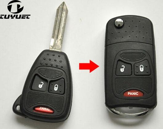 US $7 92 23% OFF|Modified Case Uncut Blade Flip Folding Key Shell For  Chrysler PT Cruiser Dodge Nitro Caliber 2+1 3 Small Buttons-in Burglar  Alarm