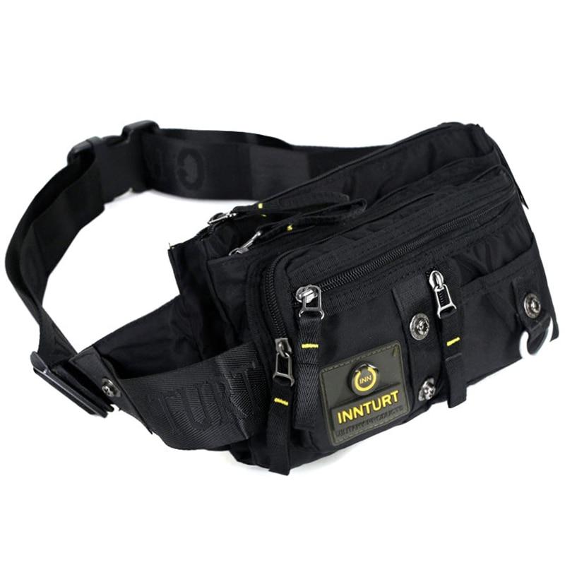 Bolsas de Peito Cinto Masculino Bolsa Fanny Único Ombro Mensageiro Cruz Corpo Moda Viagem Náilon Cintura Pacote Hip Bum