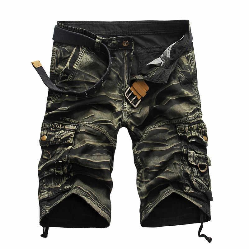 Howl Lofty Для мужчин шорты милитари летнее Для мужчин камуфляжные армейские шорты Cargo Шорты для тренировок Homme Повседневное бермуды брюки больших размеров