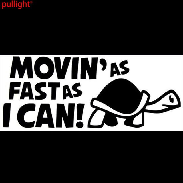 Hot sell movinas fast as i can funny personality car stickers vinyl decals bumper