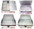 Caja de esterilización de instrumentos médicos ortopedia tornillo de aleación de aluminio caja de instrumentos