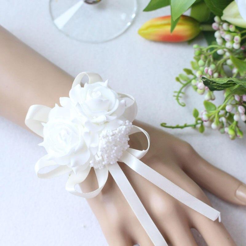 Wrist Flower Bridesmaid Hand Flowers wedding corsage  (5)